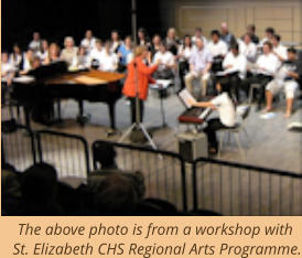 The above photo is from a workshop with St. Elizabeth CHS Regional Arts Programme.