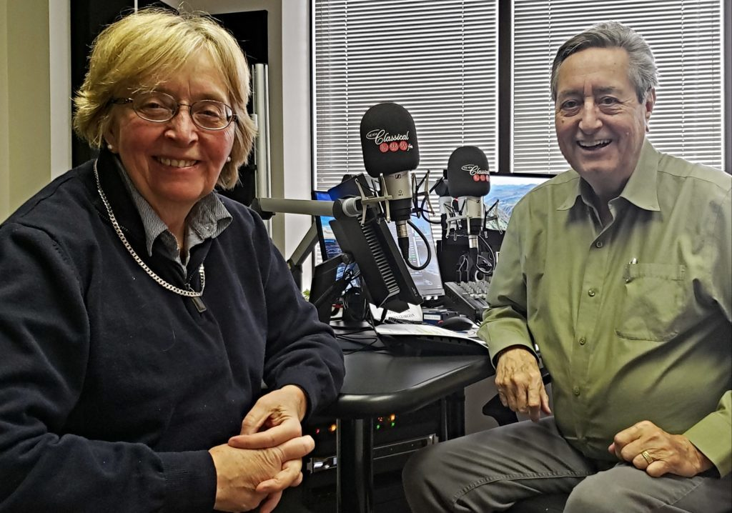 Lydia Adams with radio host Bill Anderson