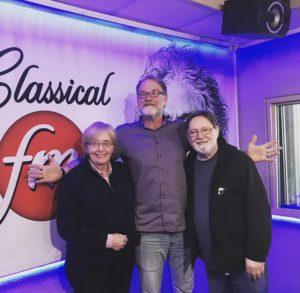 Lydia Adams and Jon Washburn with radio host Mike Duncan