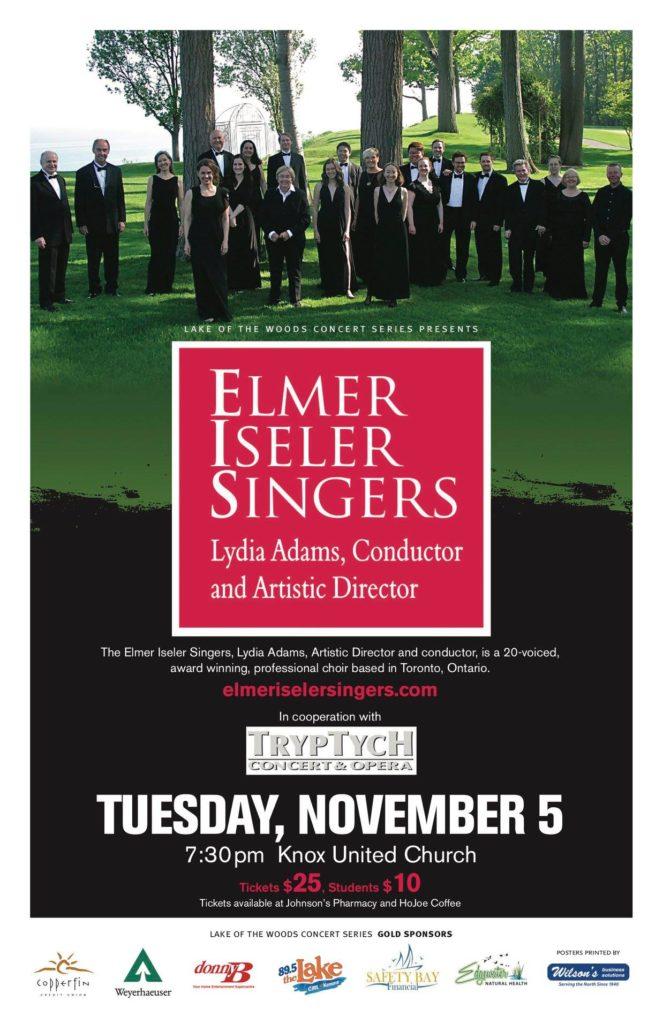 Kenora concert flyer Nov. 5, 2019