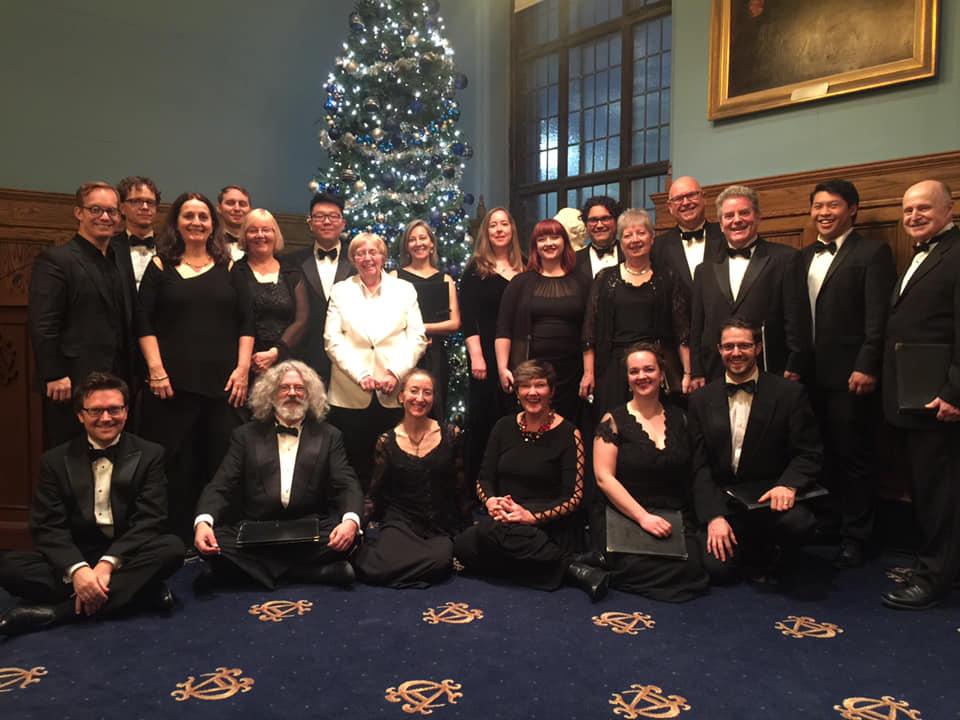 Elmer Iseler Singers at the Albany Club, Dec 2018