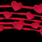Hearts as music notes by monicore via pixabay