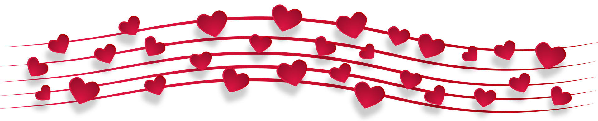 Hearts as music notes by monicore via pixabay
