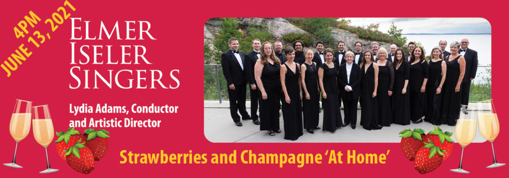 Strawberries and Champagne at Home fundraising event on June 13, 2021