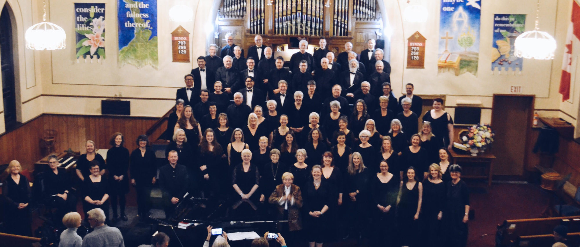 The Elmer Iseler Singers with the Wiarton Concert Choir in Wiarton, ON, 2018